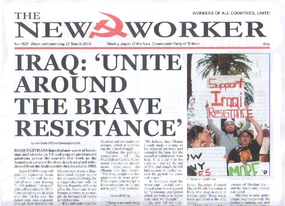 IRAQ: 'UNITE AROUND THE BRAVE RESISTANCE'