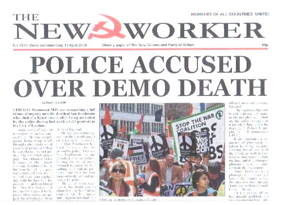 POLICE ACCUSED OVER DEMO DEATH