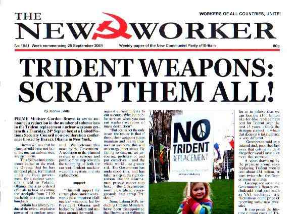 Trident Weapons: Scrap them all!