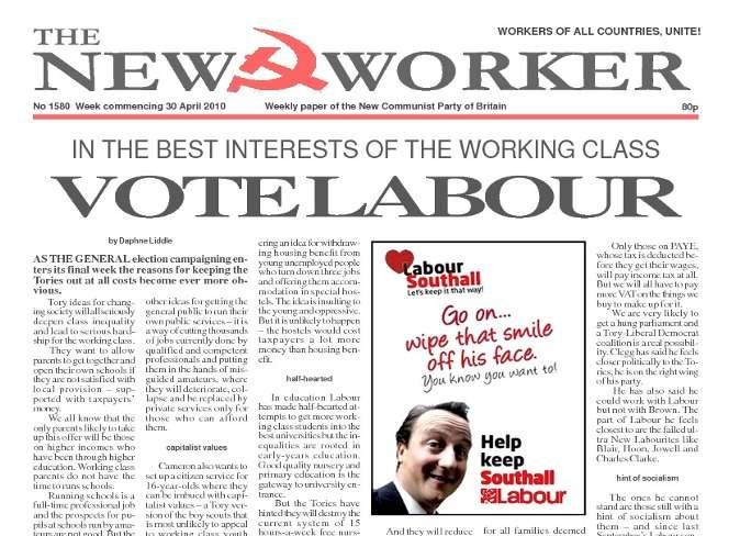 New Worker - 30th April 2010