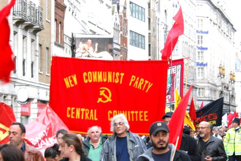 New Worker - May Day demonstration 2010