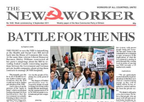 New Worker - 9th September 2011