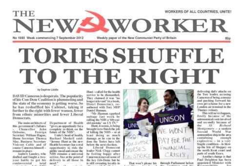 New Worker - 7th September 2012
