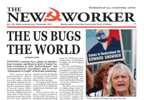 New Worker - 1st November 2013