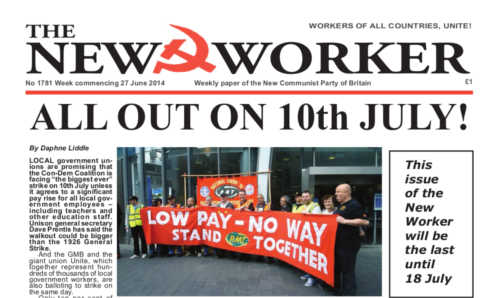 New Worker - 27th June 2014