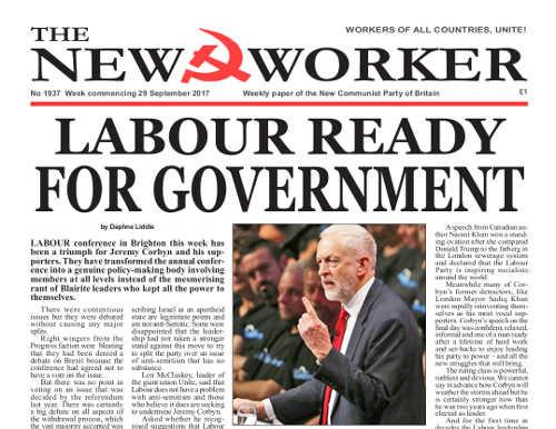 New Worker - 29th September 2017