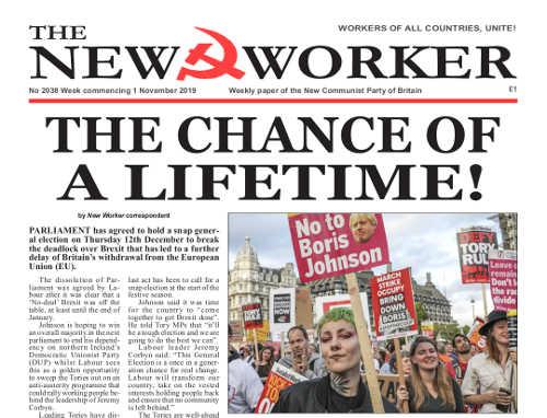 New Worker - 1st November 2019