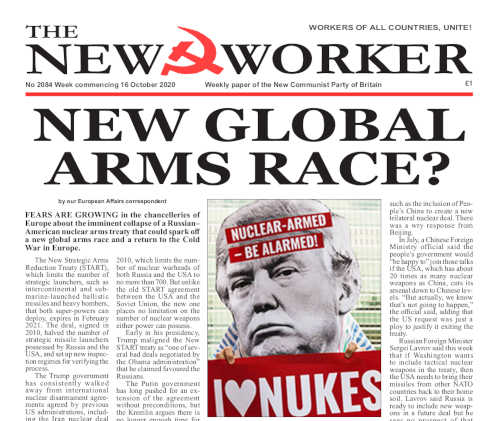 New Worker - 16th October 2020