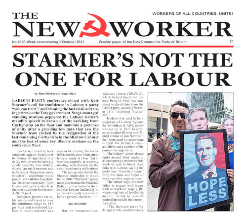 New Worker - 1st October 2021