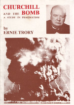Front cover of the booklet 'Churchill and the bomb'